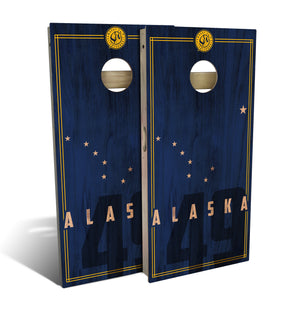 Alaska State Flag Cornhole Boards