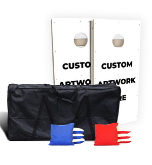 Custom All Weather Cornhole Set Bundle (Includes Carry Bag & Pro Bags)
