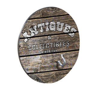 "Country Living Hook & Ring Game with Rustic ""Antiques & Collectibles"" Design"