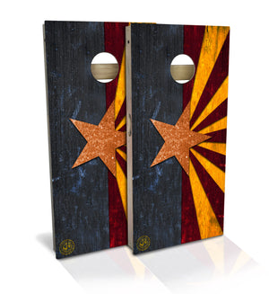 Regulation size Arizona state flag cornhole board set
