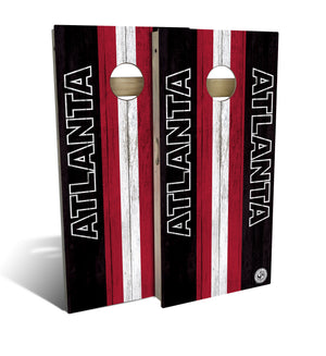 cornhole board set with Atlanta Falcons football design