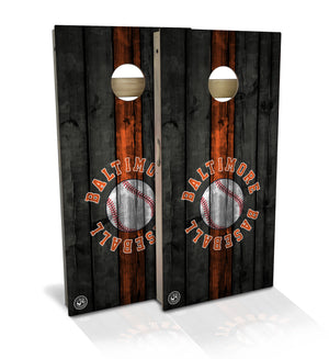 Baltimore Baseball Cornhole Board Set
