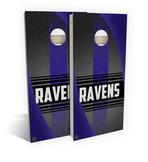 Baltimore Football 2.0 Cornhole Board Set (includes 8 bags)