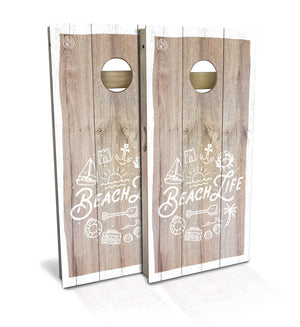 Beach Life cornhole boards