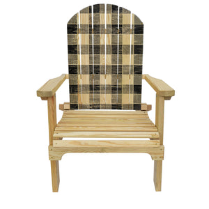 Country Living Black Checker Pattern Adirondack Chair