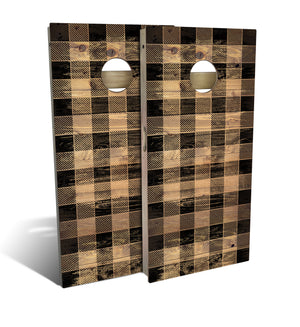 Country Living Black Checker Cornhole Board Set (includes 8 bags)