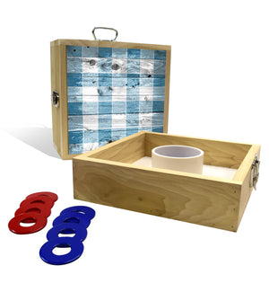 Country Living Blue Checker Pattern Washer Toss Game