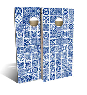 Country Living Blue Tile Cornhole Board Set (includes 8 bags)
