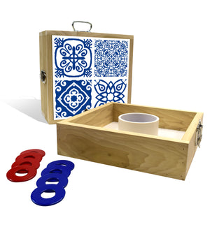 Country Living Blue Tile Washer Toss Game