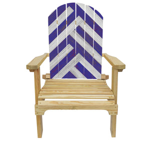 Country Living Blue & White Striped Adirondack Chair
