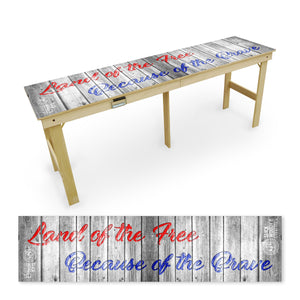Land of the Free Tailgate Table