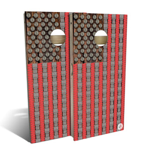 Bullet Flag Cornhole Set