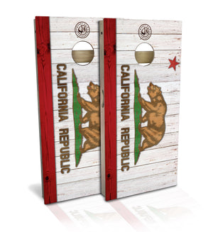 California State Flag Cornhole Board Set (includes 8 bags)