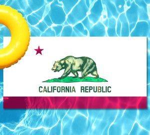 California State Flag Underwater Pool Mat