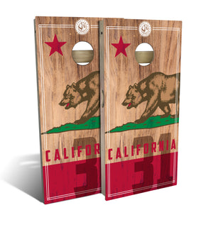 California State Flag 2.0 Cornhole Board Set (includes 8 bags)