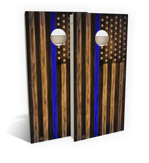 Law Enforcement Thin Blue Line Cornhole Board Set