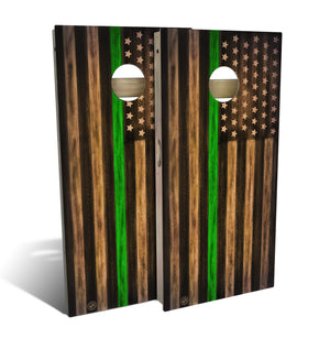 Armed Forces Thin Green Line Cornhole Board Set