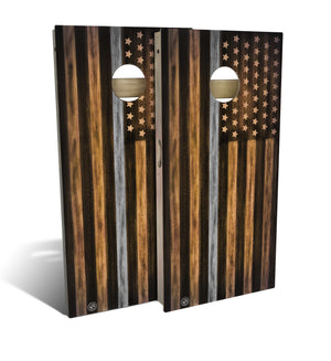 Corrections Thin Grey Line Cornhole Board Set