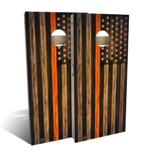 Search & Rescue Thin Orange Line Cornhole Board Set