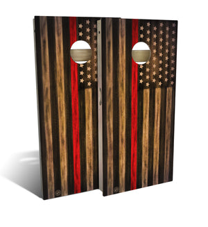 Fire Dept Thin Red Line Cornhole Board Set