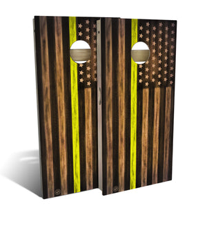 Dispatch Thin Yellow Line Cornhole Board Set