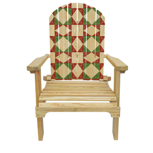 Country Living Christmas Stars Quilt Adirondack Chair