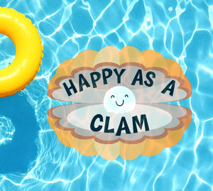 Happy As A Clam Underwater Pool Mat Tattoo