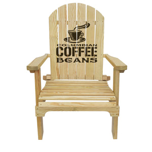 Country Living Columbian Coffee Beans Adirondack Chair