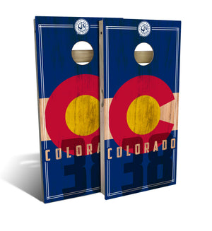 Colorado State Flag 2.0 Cornhole Board Set (includes 8 bags)