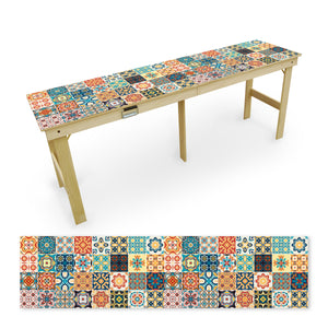 Country Living Multi Colored Tile Tailgate Table