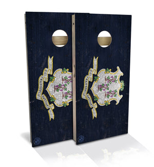 Connecticut State Flag Cornhole Board Set