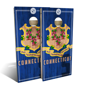Connecticut State Flag 2.0 Cornhole Board Set (includes 8 bags)