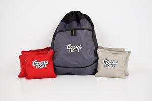 Coors Light Cornhole Bags Set & Carrying Bag