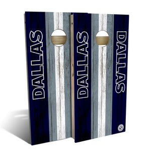 cornhole board set with Dallas Cowboys football design