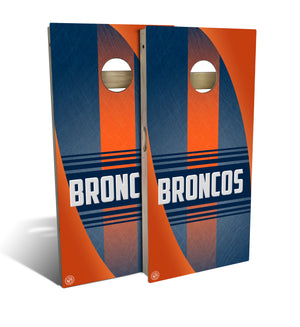 Denver Football 2.0 Cornhole Board Set (includes 8 bags)