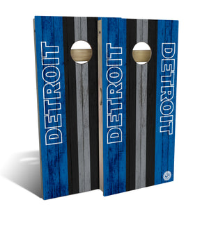 cornhole board set with Detroit Lions football design