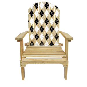 Country Living Diamond Checker Adirondack Chair