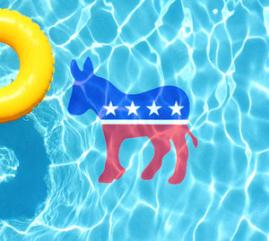 Democratic Party Underwater Pool Mat Tattoo