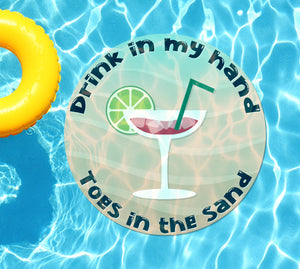Drink In My Hand Toes in the Sand #2 Underwater Pool Mat Tattoo