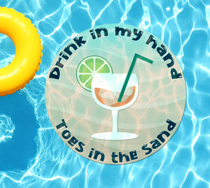 Drink In My Hand Toes in the Sand #3 Underwater Pool Mat Tattoo