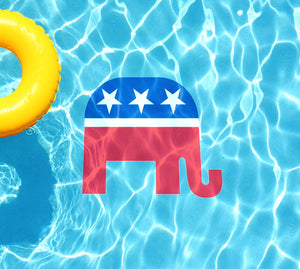 Republican Party Underwater Pool Mat Tattoo