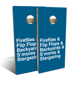 Country Living Fireflies Helvetica List Cornhole Board Set (includes 8 bags)