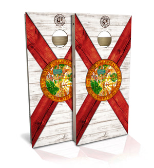 Florida State Flag Cornhole Board Set