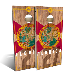 Florida State Flag 2.0 Cornhole Board Set (includes 8 bags)