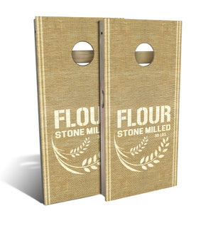 Country Living Flour Sack Cornhole Board Set (includes 8 bags)
