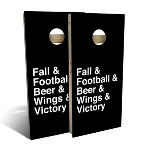 Country Living Football Helvetica List Cornhole Board Set (includes 8 bags)