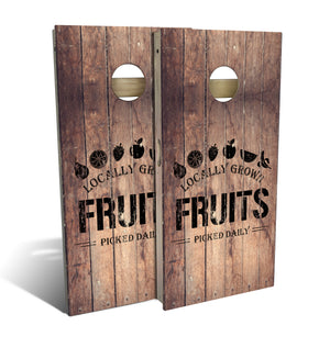 Country Living Fruit Crate Cornhole Board Set (includes 8 bags)