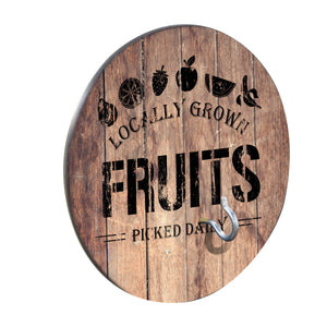 Country Living Hook & Ring Game with Rustic Fruits Crate Design