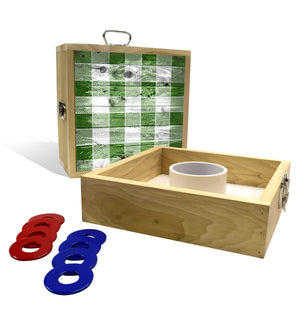 Country Living Green Checker Pattern Washer Toss Game