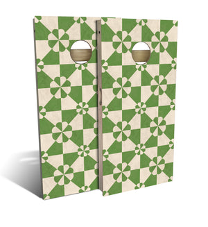 Country Living Green Tile Cornhole Board Set (includes 8 bags)